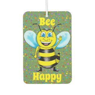 Glücklicher Bienen-Lufterfrischer Autolufterfrischer