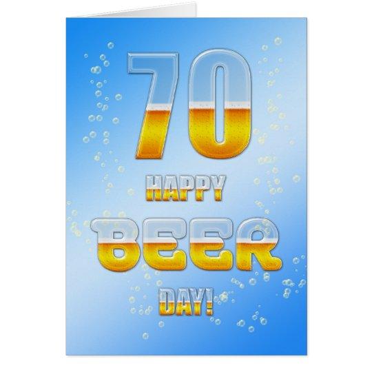 Glücklicher Biertages70. Geburtstagskarte Karte