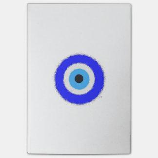 Glücklicher blaues Auge Posten-it® merkt 4 x 6 Post-it Klebezettel
