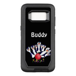 Glücklicher Bowling u. Penguinpins durch den OtterBox Defender Samsung Galaxy S8 Hülle