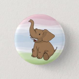 Glücklicher Brown-Elefant-Knopf Runder Button 3,2 Cm