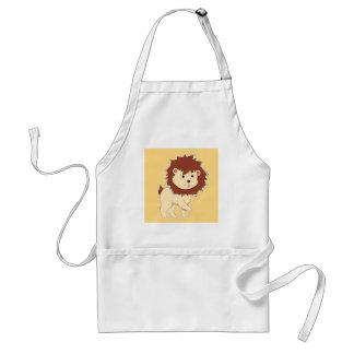 Glücklicher Cartoon-Baby-Löwe Schürze