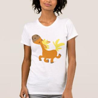 Glücklicher Cartoon-Pony-Frauen-T - Shirt