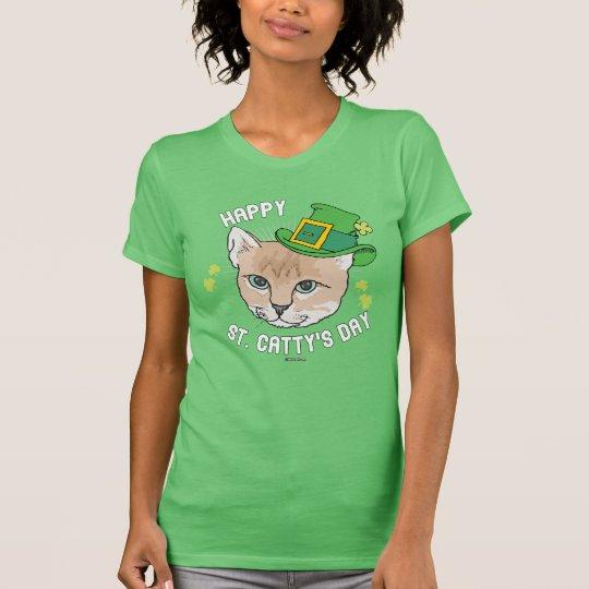 Glücklicher Cattys Tag St. T-Shirt