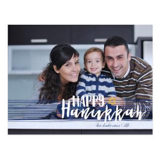 Glücklicher Chanukka-Davidsstern Foto-Postkarten Postkarte