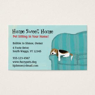 Glücklicher Couch-Hund Visitenkarten
