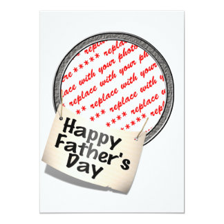 Glücklicher der Vatertags-Fahnen-Rahmen Personalisierte Ankündigungskarte