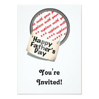 Glücklicher der Vatertags-Fahnen-Rahmen Einladungskarten