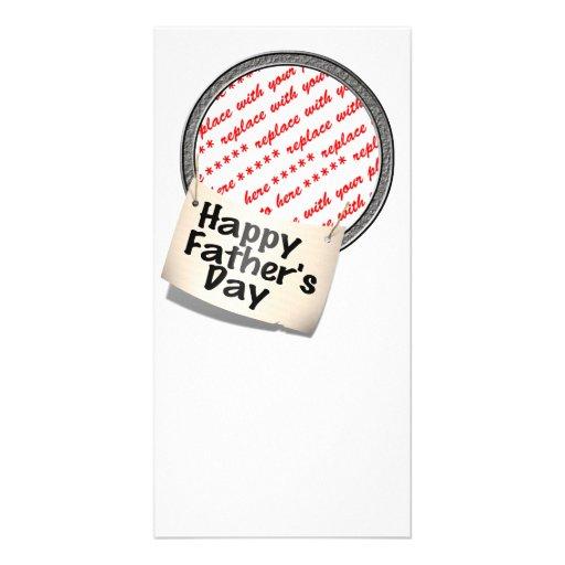 Glücklicher der Vatertags-Fahnen-Rahmen Photogrußkarten