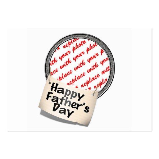Glücklicher der Vatertags-Fahnen-Rahmen Visitenkartenvorlagen