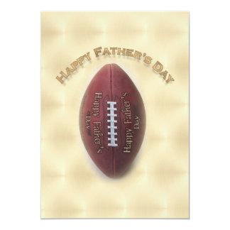 Glücklicher der Vatertags-Fußball auf 12,7 X 17,8 Cm Einladungskarte