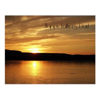 Glücklicher der Vatertags-goldener Sonnenuntergang Postkarten