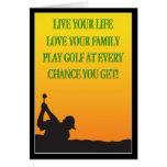 Glücklicher der Vatertags-Golfspieler in der Karten