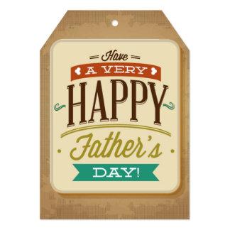 Glücklicher der Vatertags-großer Geschenk-Umbau Einladungskarte