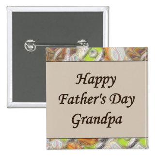 Glücklicher der Vatertags-Großvater Button