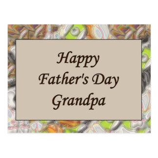 Glücklicher der Vatertags-Großvater Postkarte