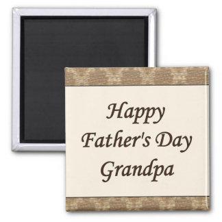 Glücklicher der Vatertags-Großvater Quadratischer Magnet