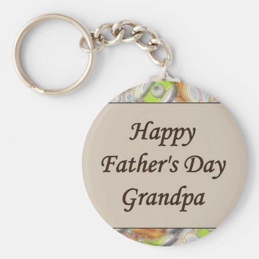 Glücklicher der Vatertags-Großvater Schlüsselanhänger