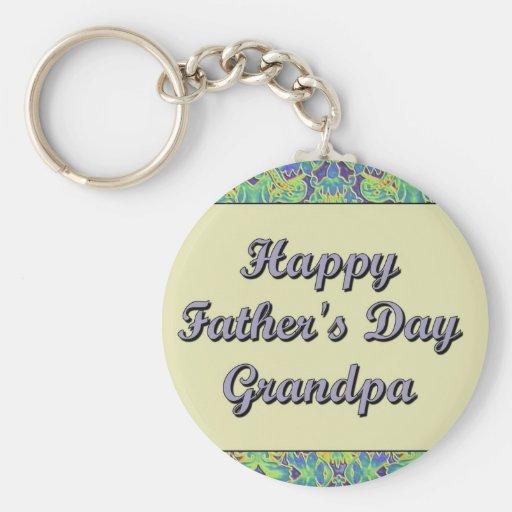 Glücklicher der Vatertags-Großvater Schlüsselbänder