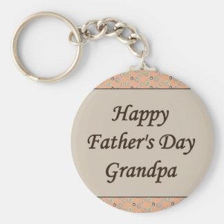 Glücklicher der Vatertags-Großvater Standard Runder Schlüsselanhänger