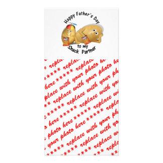 Glücklicher der Vatertags-Imbiss-Partner (Stubenho Bild Karte