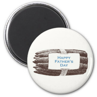 Glücklicher der Vatertags-Magnet Runder Magnet 5,7 Cm