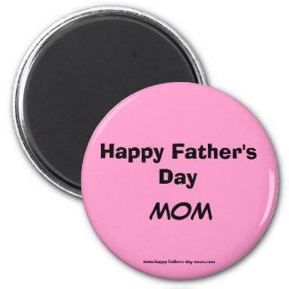 Glücklicher der Vatertags-Mamma-Magnet Runder Magnet 5,1 Cm