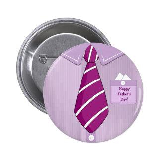 Glücklicher der Vatertags-Shirt-Krawatten-Knopf Runder Button 5,1 Cm