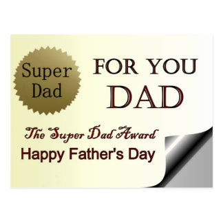 Glücklicher der Vatertags-Supervati-Preis Postkarte