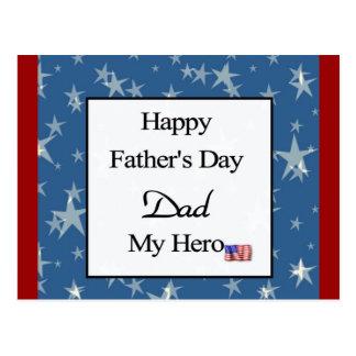 Glücklicher der Vatertags-Vati mein Held Postkarten