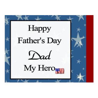 Glücklicher der Vatertags-Vati mein Held Postkarte