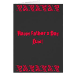 Glücklicher der Vatertags-Vati Schaukeln Sie Karte