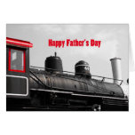 Glücklicher der Vatertags-Zug Grußkarten