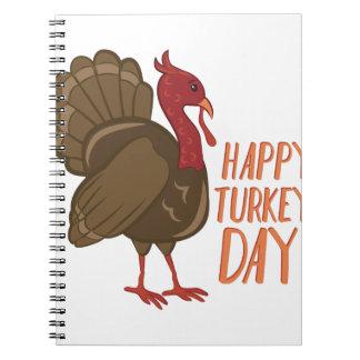 Glücklicher die Türkei-Tag Spiral Notizblock