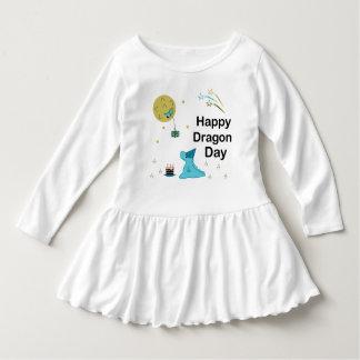 Glücklicher Drache-Tag Kleid