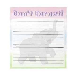 Glücklicher Elefant-kundengerechter gezeichneter Notizblock