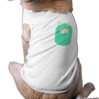 Glücklicher Emoji Lama-Hundeshirt Shirt