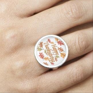 Glücklicher Erntedank Foto Ring
