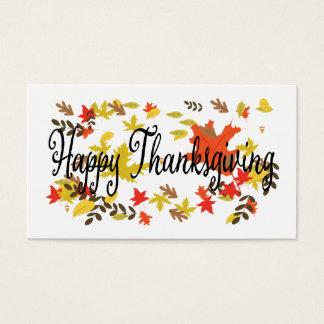 Glücklicher Erntedank-Tag, geben Dank, Herbst Visitenkarte