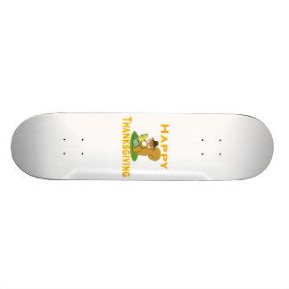 Glücklicher ErntedankChipmunk mit Mais 18,1 Cm Old School Skateboard Deck