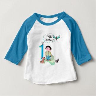 Glücklicher erster Geburtstag, Geburtstags-Junge Baby T-shirt