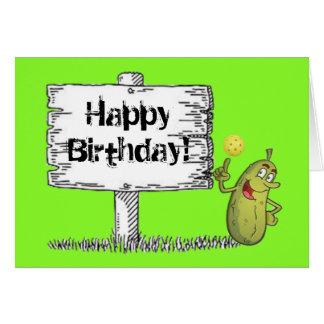 Glücklicher Essiggurken-Geburtstag! Karte