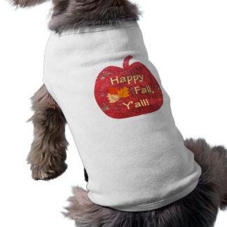 Glücklicher Fall Sie Kürbis-Hundet-stück Ärmelfreies Hunde-Shirt
