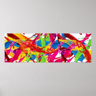 Glücklicher Farben-Spritzer Poster