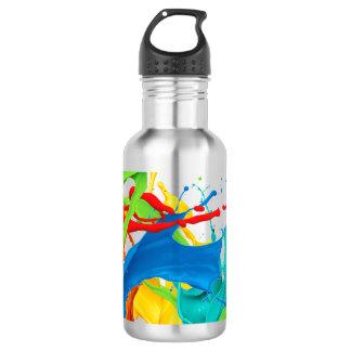 Glücklicher Farben-Spritzer Trinkflasche