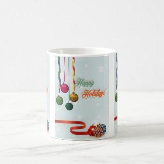 Glücklicher Feiertag verziert Version 2 Kaffeetasse
