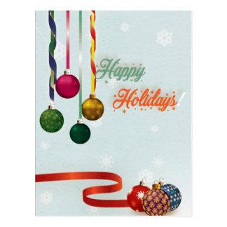 Glücklicher Feiertag verziert Version 2 Postkarte