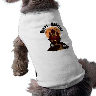 Glücklicher frequentierender Halloween-Hundeshirt Shirt