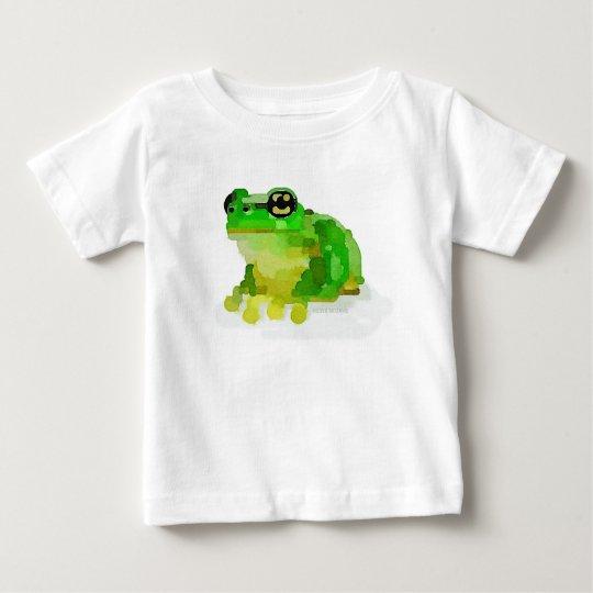 Glücklicher Frosch-Baby-T - Shirt (weiß)