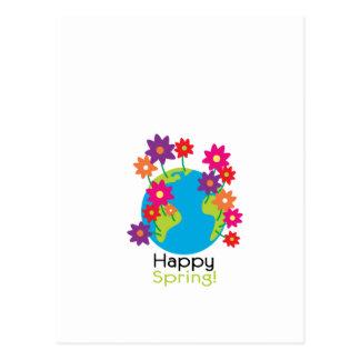Glücklicher Frühling Postkarte